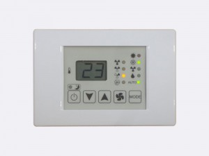 BACnet room display unit BACnet PLC - C2.RDU.01 device is designed for supervising C2.FCC fan coil controllers.