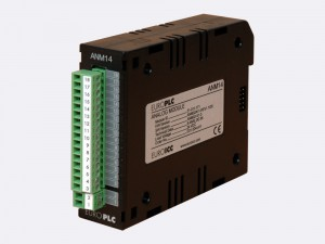 Analog module BACnet PLC - M2.ANM.14 has 2 input channels with maximal 16-bit (12 bit with factory default calibration) resolution and 2 output channels with 12-bit resolution.