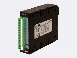 Digital input/output module BACnet PLC - M2.DIO.01 has 8 digital inputs 24 VDC with common pole and 8 non-latching transistor outputs. The first two digital inputs can be used as the counter inputs.