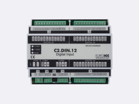 Digital input BACnet PLC - C2.DIN.12 can be used in remote fields IO in any Bacnet and/or Modbus network - Native Bacnet programmable device, 24 digital inputs