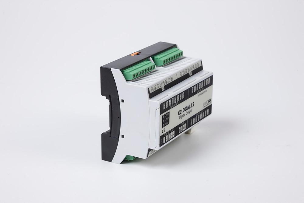 Digital input BACnet PLC - C2.DOM.12 can be used in remote fields IO in any Bacnet and/or Modbus network - Native Bacnet programmable device, 12 relay outputs