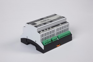 The BACnet programmable functional controller BACnet PLC - C2.FNC.121 designed for wide range of building automation tasks - 4 relay outputs, 8 digital inputs, 2 analog outputs, 4 universal inputs