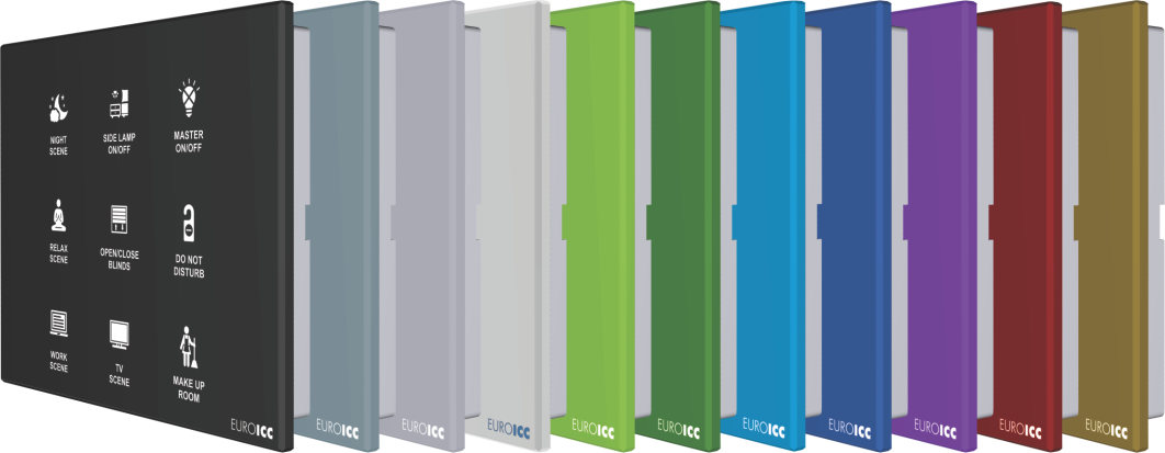 EUROICC Intelligent Programmable Room Wall panels - Colors