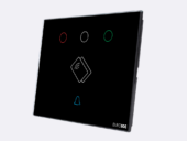 Smart Programmable Intelligent wall touch panel for Guest Room Management System, Smart Hotel Control, Home Automation and Building Automation - RD.CRA.01 - Customizable Intelligent card reader device designed for wide range of Building Automation and Guest Room Management System tasks
